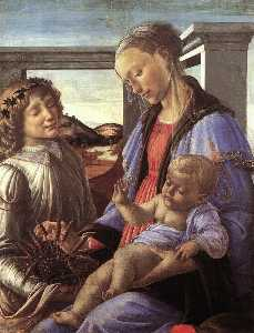 Sandro Botticelli - Madonna and Child with an Angel