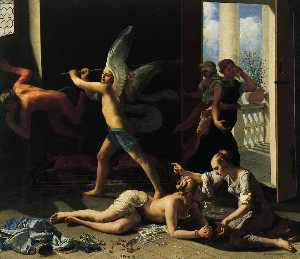 Guido Cagnacci - Martha Rebuking Mary for her Vanity