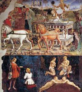 Francesco Del Cossa - Allegory of May: Triumph of Ap..
