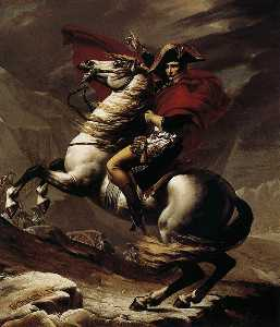 Jacques Louis David - Bonaparte, Calm on a Fier..