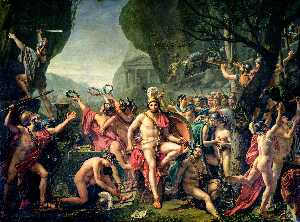 Jacques Louis David - Leonidas at Thermopylae