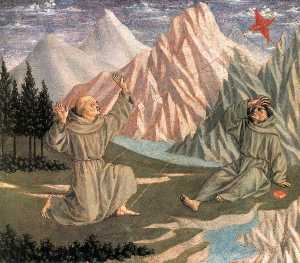 Domenico Veneziano - The Stigmatization of St Francis (predella 1)
