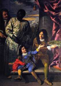 Anton Domenico Gabbiani - Portrait of Four Servants of t..