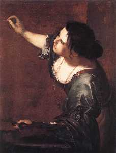 Artemisia Gentileschi - Self-Portrait as the Alle..