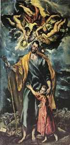 El Greco (Doménikos Theotokopoulos) - St Joseph and the Christ Child