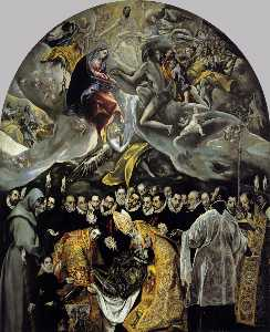El Greco (Doménikos Theot.. - The Burial of the Count o..