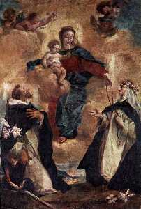 Gianantonio Guardi - Virgin and Child with Sts Dominic and Rosa of Lima