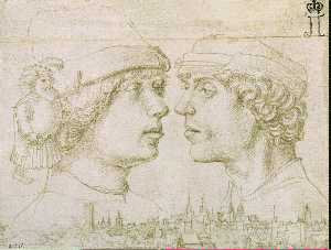 Hans Holbein The Elder - Portrait of the Artist-s Sons