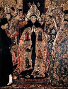Jaume Huguet - The Consecration of St Augusti..