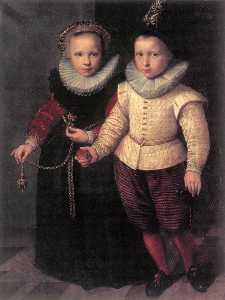 Cornelis Ketel - Double Portrait of a Brother a..