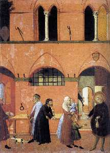 Master Of The Osservanza - St Anthony Distributing his Wealth to the Poor