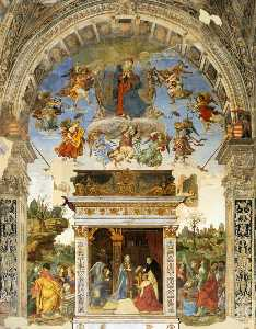 Filippino Lippi - Altar wall of the Carafa ..