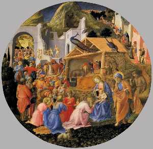Fra Filippo Lippi - Adoration of the Magi