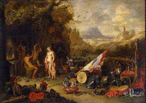Jan Van Kessel - Venus at the Forge of Vulcan