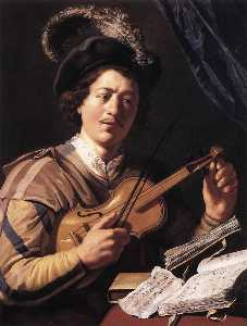 Jan Andrea Lievens - The Violin Player