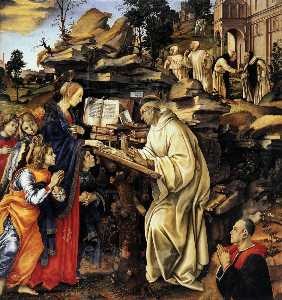 Filippino Lippi - Apparition of The Virgin ..