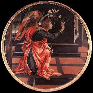 Filippino Lippi - Gabriel from the Annuncia..