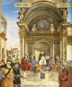 Filippino Lippi - Triumph of St Thomas Aqui..