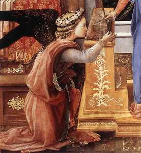 Fra Filippo Lippi - Annunciation with two Kne..