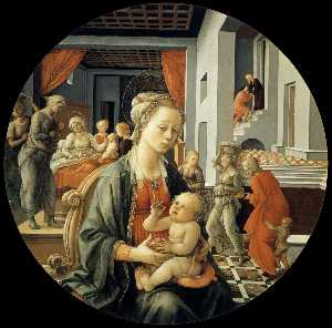 Fra Filippo Lippi - Madonna with the Child an..