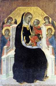 Pietro Lorenzetti - Virgin Enthroned with Child and Four Angels