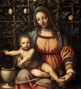 Bernardino Luini - Madonna in the Rose Garden