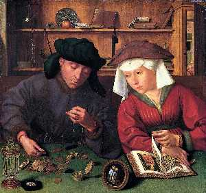 Quentin Massys - The Moneylender and his W..