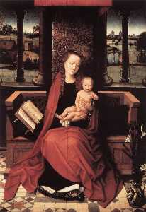 Hans Memling - Virgin and Child Enthroned
