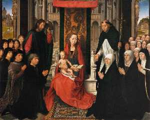 Hans Memling - Virgin and Child with Sts..