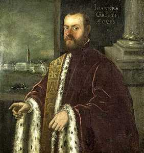 Domenico Robusti - Portrait of Joannes Gritti