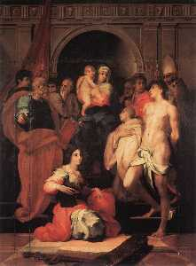 Rosso Fiorentino - Madonna Enthroned and Ten..
