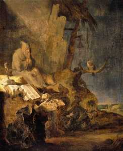 Cornelis Saftleven (Cornelis Z.. - The Temptation of St Anthony