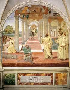 Il Sodoma (Giovanni Antonio Bazzi) - Life of St Benedict, Scene 11: Benedict Founds Twelve Monasteries