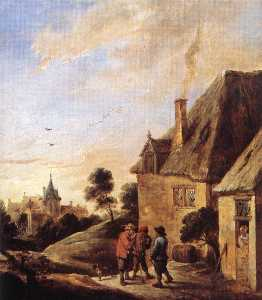 David The Younger Teniers - Village Scene