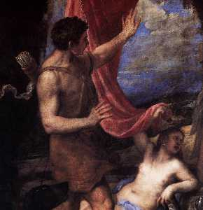 Tiziano Vecellio (Titian) - Diana and Actaeon (detail..