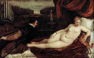 Tiziano Vecellio (Titian) - Venus and an Organist and..