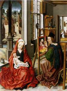 Derick Baegert - Saint Luke Painting the Virgin