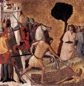 Giovanni Baronzio - Scenes from the Life of St Colomba: Beheading of St Colomba