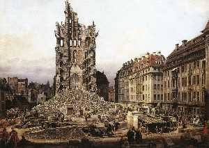 Bernardo Bellotto - The Ruins of the Old Kreu..