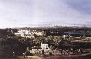 Bernardo Bellotto - View of the Villa Cagnola..