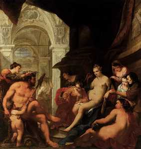 Antonio Bellucci - Hercules in the Palace of Omph..