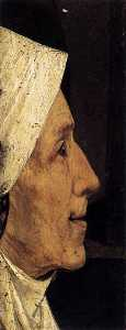 Hieronymus Bosch - Head of a Woman (fragment)