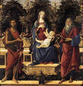 Sandro Botticelli - The Virgin and Child Enthroned (Bardi Altarpiece)