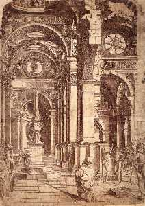 Donato Bramante - Interior of a Church