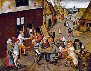 Pieter Bruegel The Younge.. - Peasants Making Merry out..