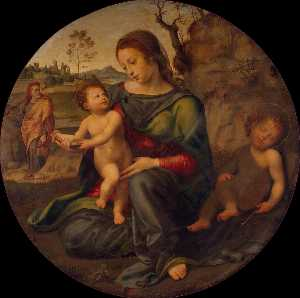 Giuliano Bugiardini - Holy Family with St John ..