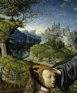 Jacob Cornelisz Van Oostsanen - Christ Appearing to Mary Magdalen as a Gardener (detail)
