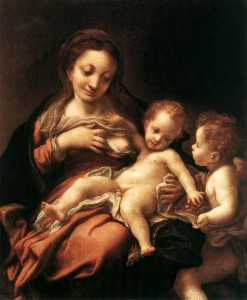 Antonio Allegri Da Correg.. - Virgin and Child with an ..