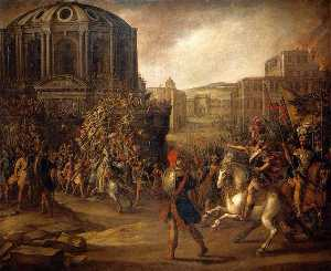 Juan De La Corte - Battle Scene with a Roman..