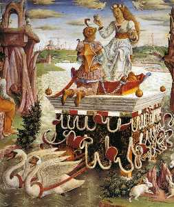 Francesco Del Cossa - Allegory of April: Triumph of ..